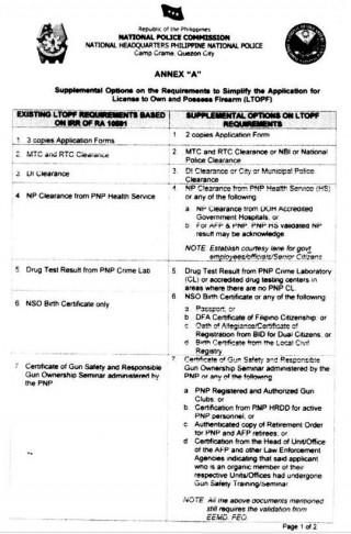 LTOPF Supplemental Options P1