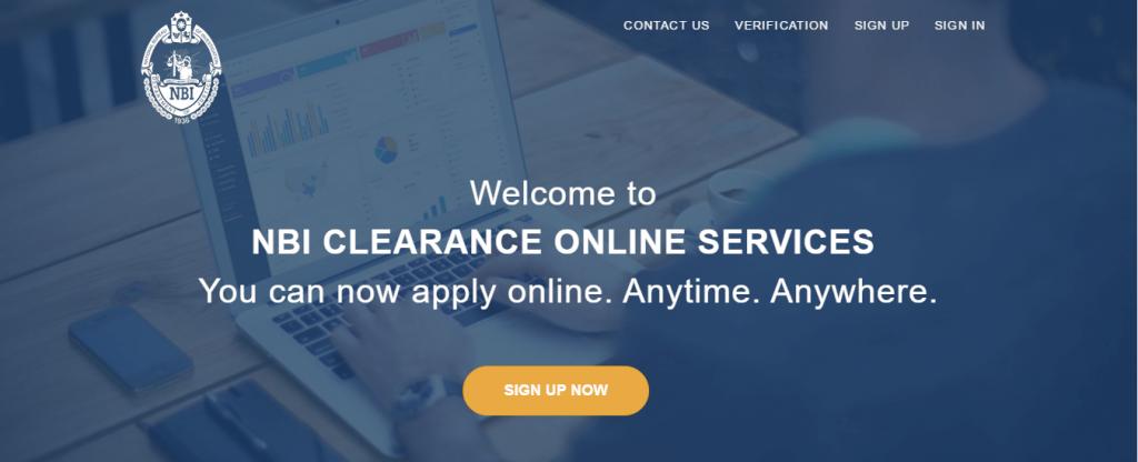 NBI Clearance Home Screen